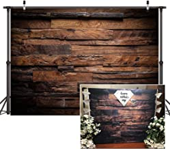 CYLYH 7x5ft Brown Wood Backdrop for Photography Customized Vintage Background for Photo Studio Props D104