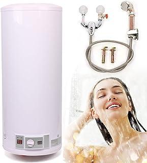 Warmwaterboiler, elektrische boiler, boiler, 120 liter, 2000 W, wandmontage, waterbereider met doucheset, volautomatische ...