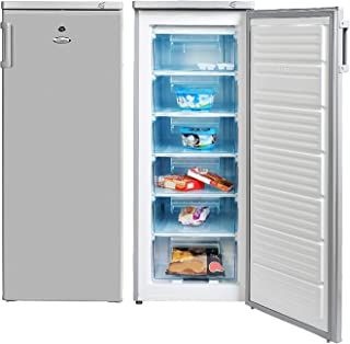 Super General Upright Freezer 330 Liter Gross Volume, SGUF-307-HS, Silver, Compact Deep-Freezer with 6 Plastic Drawers, Lo...