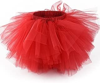 Girl's 6-Layered Tulle Fluffy Tutu Skirt Princess Dancing Petticoat Ballet Underskirt(2T-8T)