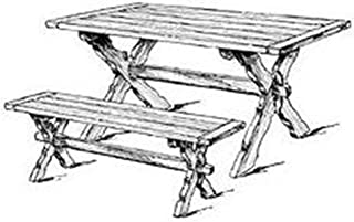 Sawbuck Bench and Table Woodworking Plan