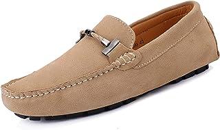 SMajong Hommes Mocassins Chaussures de Conduite Plates Chaussures Bateau Confort Penny Loafers