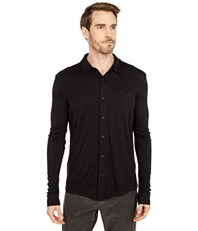 Smartwool Merino Sport 250 Long Sleeve Button-Up (Black) Men