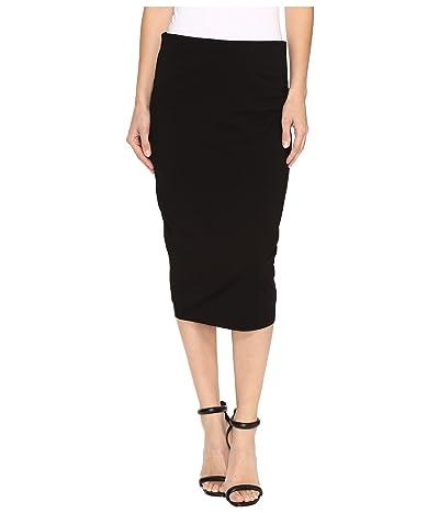 Vince Camuto Midi Tube Skirt (Rich Black) Women