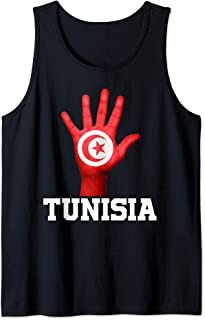 TUNISIA Hand Up Flag Tshirt I Love TUNISIA Travel Tee Tank Top