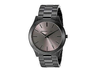 Michael Kors MK8507 Slim Runway (Black) Watches