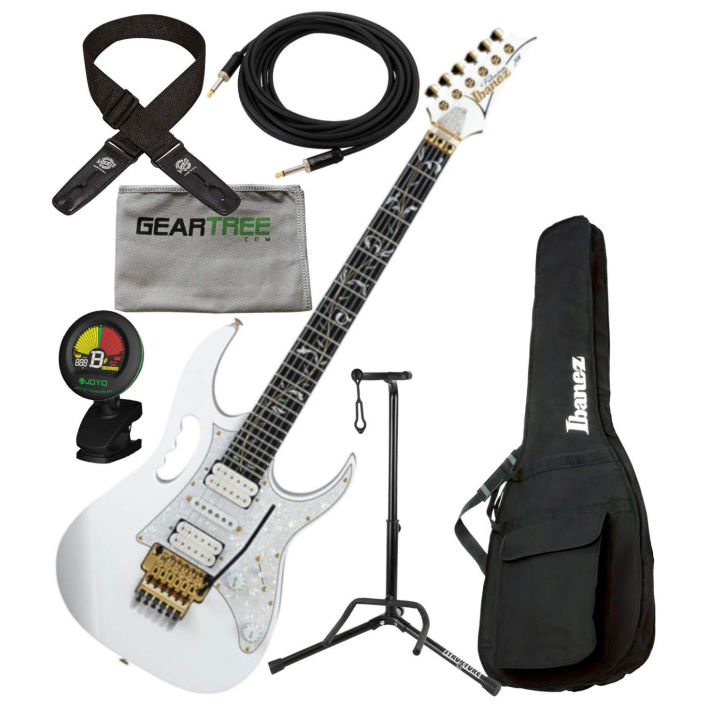 Cheap Ibanez JEM7VPWH Steve Vai Signature Electric Guitar w/Bag Tuner Cloth Dlx Cab Black Friday & Cyber Monday 2019