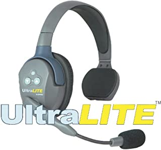 Eartec UltraLITE Single Remote Headset with Microphone and Rechargeable Lithium Battery, Classic Version