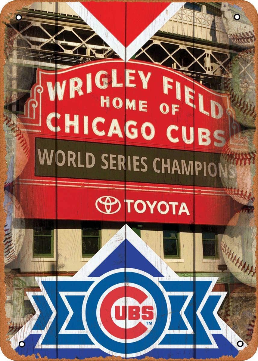 Mirace Metal Sign - Sports Wrigley Field x 12 8 Cubs Vintage Super sale L Special Campaign