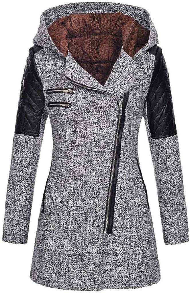 Women's Jacket with Button Closure Asymmetrical Hem Long Trench Black Cloak Wool Coat