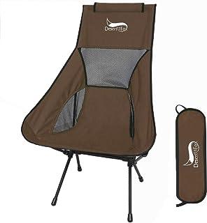 アウトドアチェア 折りたたみ 超軽量【 選べる8色】【ハイバック】【耐荷重150kg】コンパクト イス 椅子 収納袋付属 お釣り 登山 携帯便利 キャンプ椅子 0016