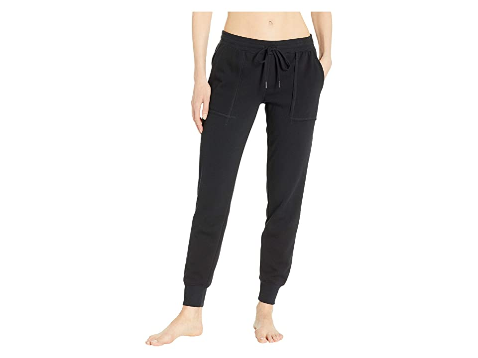 P.J. Salvage Silky Lounge Joggers (Black) Women