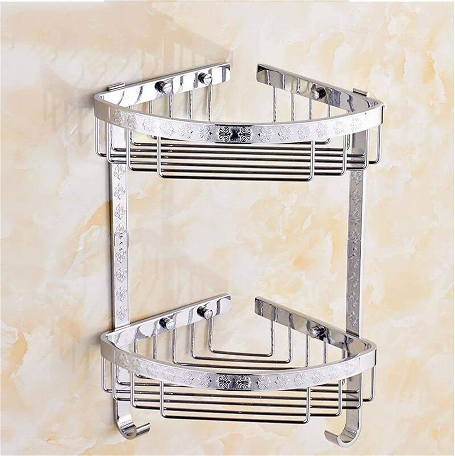 Bathroom Racks, Bathroom Corner Shelf, Bathroom Tripod, Double Triangle Basket Hardware Pendant, Toilet Tripod (color   5 )
