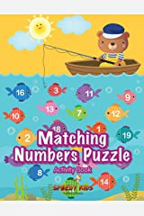 Matching Numbers Puzzle Activity Book Paperback