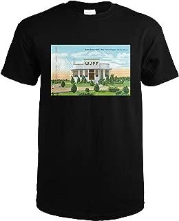 Herrin, Illinois - Exterior View of Radio Station WJPF, the Voice of Egypt 26511 (Black T-Shirt XX-Large)