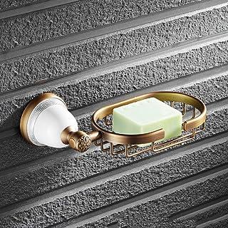 Copper Antique soap Dish Bathroom soap Box soap net Bronze soap net Kitchen and Bathroom Hardware Pendant Soap Saver Box C...