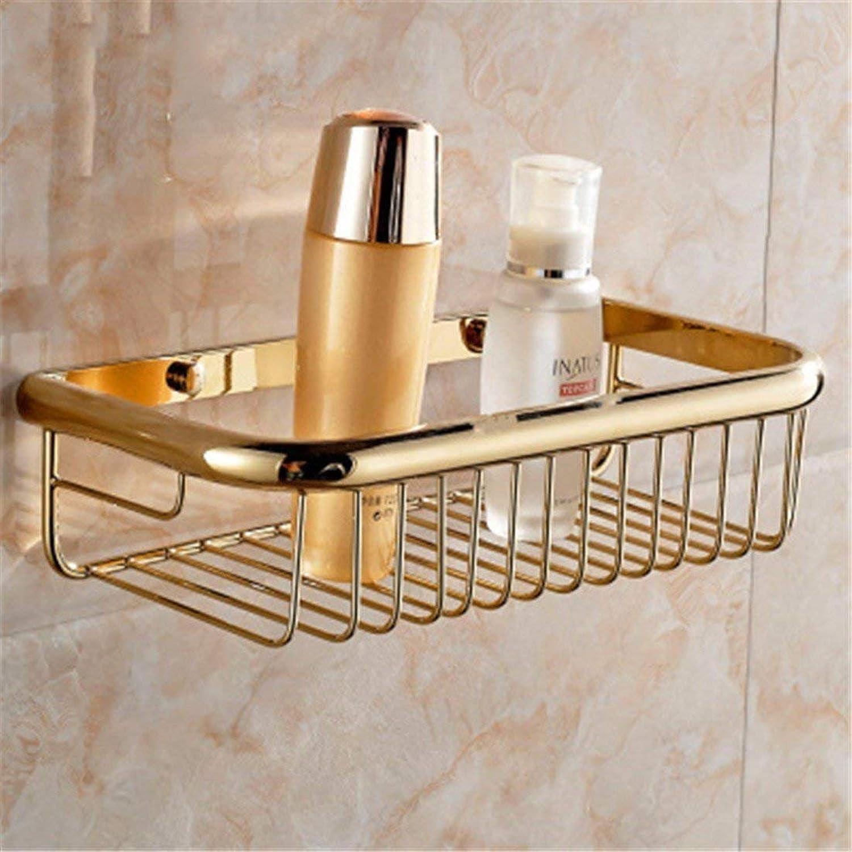 European Copper Bake White gold varnishes Bathroom Costume Coat Hanger Toilet Paper Rack Toilet Brush Frame,Place The Shopping Cart 1 B