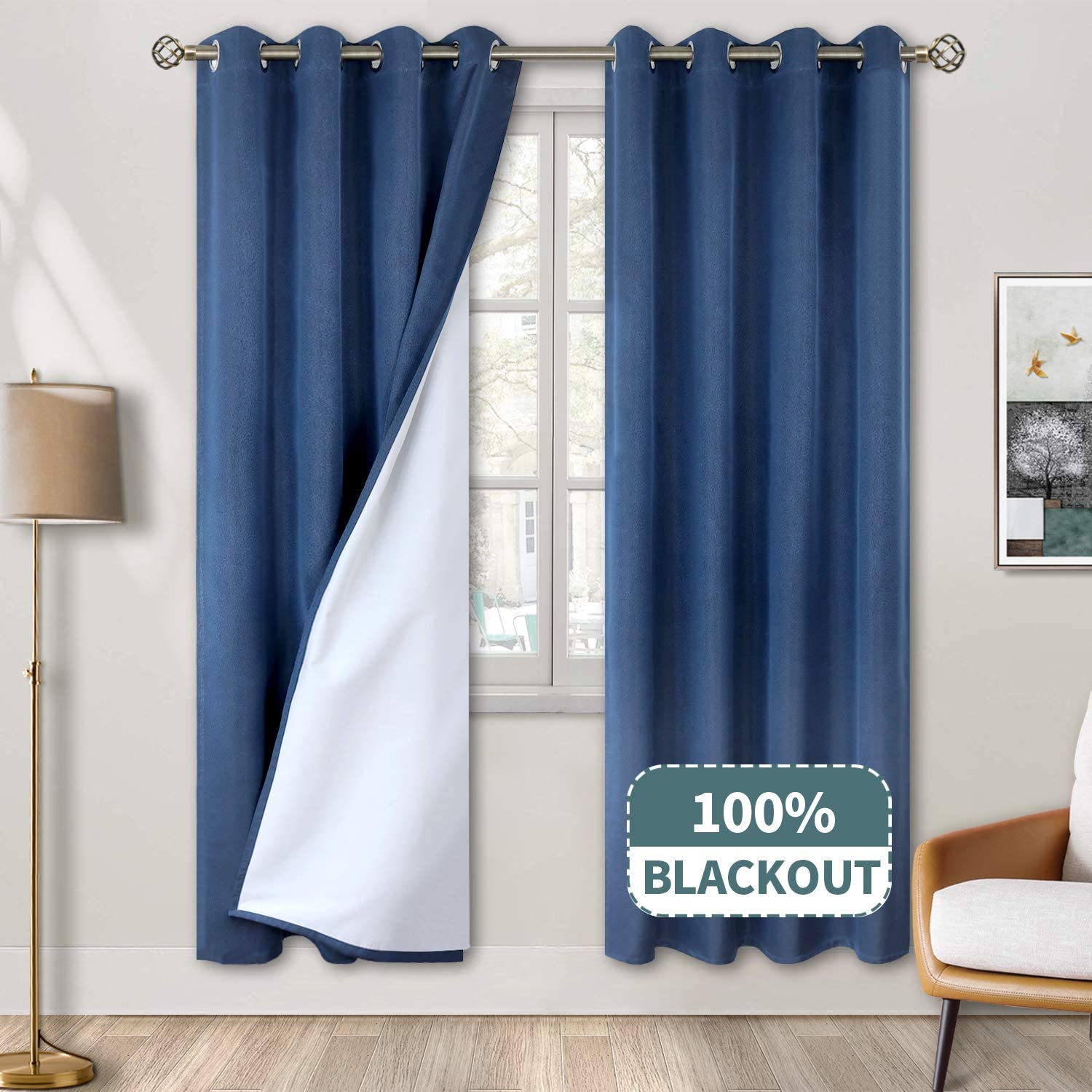 Max 79% OFF BGment 100% Blackout Curtains for Bedroom Jacquard NEW before selling ☆ Grommet Ther