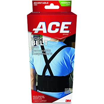 ACE Work Belt Back Support, Helps provide back support when lifting in the workplace, Money Back Guarantee, One Size Fits Most