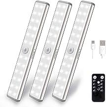 Litake Led-kastverlichting, USB, 20 leds, draadloos, onderbouwlamp, keuken, afstandsbediening, oplaadbaar, opplakken, nach...