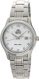 "Orient ""Charlene"" Classic Automatic Pearl Dial Swarovski Crystal Steel Watch NR1Q004W"