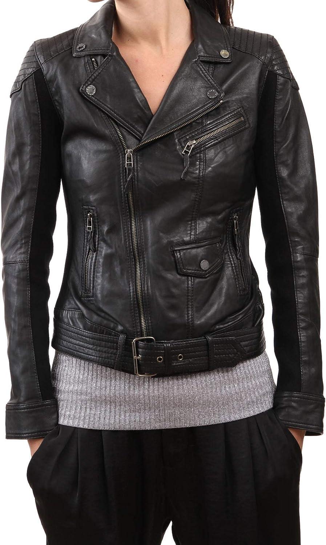 Women's Stylish Lambskin Genuine Leather Jacket WJ132