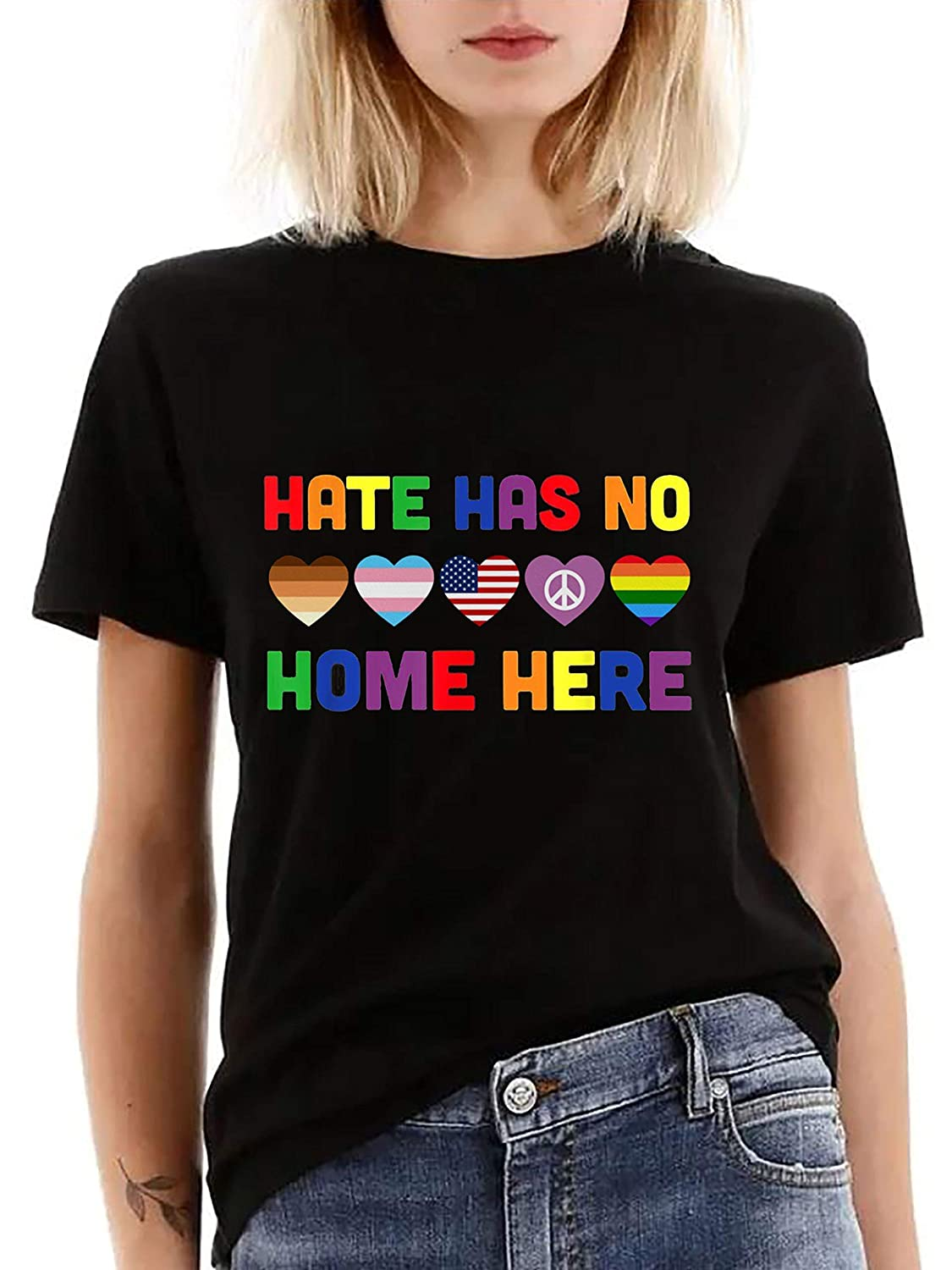 Hate Has No Home Here T-shirt/Long Sleeve Shirt/Sweatshirt/Hoodie for LGBT Valentine's Day Gift