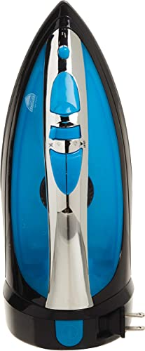 wholesale Sunbeam Steam Master 1400 Watt Mid-size Anti-Drip Non-Stick Soleplate Iron with Variable outlet online sale Steam control and 8' Retractable Cord, Black/Blue, lowest GCSBCL-202-000 online