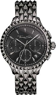 Thomas Sabo - Reloj Cronógrafo para Mujer de Cuarzo con Correa en Acero Inoxidable WA0348-202-203-38 mm