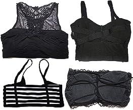 Shoppy Villa Women's Blended Lightly Padded Non-Wired Bralette Bra (Pack of 4)