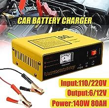 Full Automatic Intelligent Car Battery Charger 220V 6V/12V 80AH PWM Negetive Pulse 50-60HZ 140W US Plug Three Charging Modes