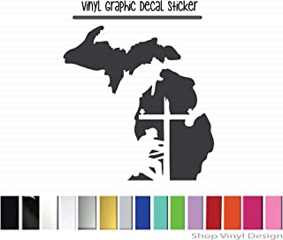 Made To Order Michigan Vinyl Graphic Decal Sticker for Vehicle Car Truck SUV Window Laptop Cooler Planner Locker Safe Lineman High Quality Outdoor Rated Vinyl Handmade Decal