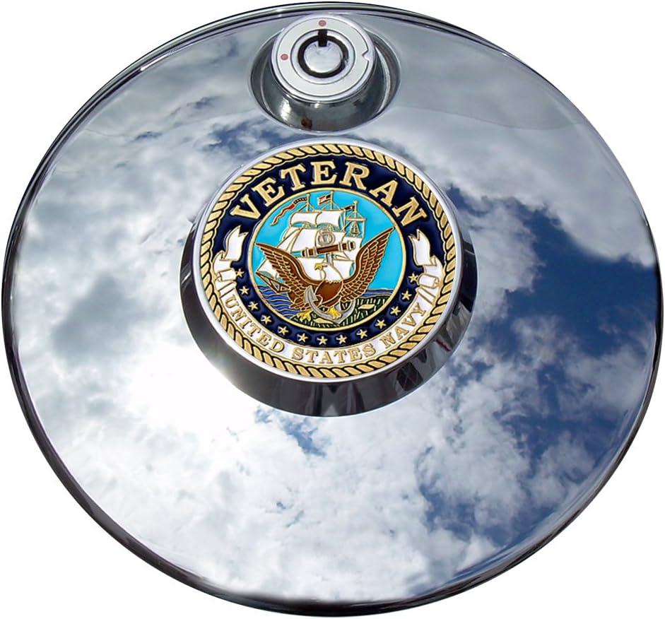 MotorDog69 Navy Max 83% OFF Veteran Harley Indefinitely Fuel Door Coin Mount Cover SetâÂ