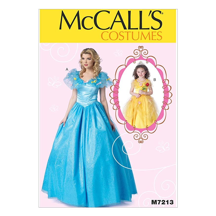 McCall's Patterns M7213 Floor-Length Dress with Full Skirt Sewing Template, Miss (SML-MED-LRG-XLG)