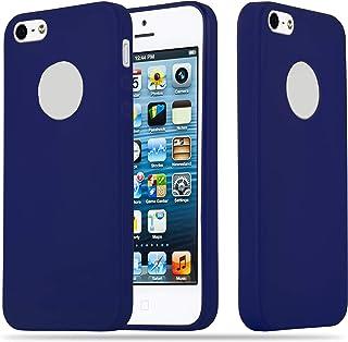 2875f848fee Cadorabo Funda para Apple iPhone 5 / iPhone 5S / iPhone SE en Candy Azul  Oscuro – Cubierta Proteccíon de Silicona TPU Delgada e Flexible con  Antichoque ...