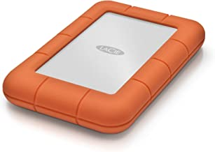 LaCie Rugged Mini 2TB External Hard Drive Portable HDD – USB 3.0 USB 2.0 compatible, Drop Shock Dust Rain Resistant Shuttle Drive, for Mac and PC Computer Desktop Workstation PC Laptop (LAC9000298)