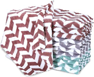 """12 Pack Kitchen Dishcloths - Nonstick Oil Fast Dish Cloths, 12"""" × 12"""" Lint-Free No Odor Dish Rags, Super Absorbent Coral M..."""