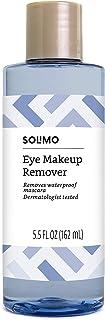 برند آمازون - پاک کننده آرایش چشم Solimo ، پاک کننده ریمل ضد آب ، متخصص پوست ، 5.5 اونس مایعات