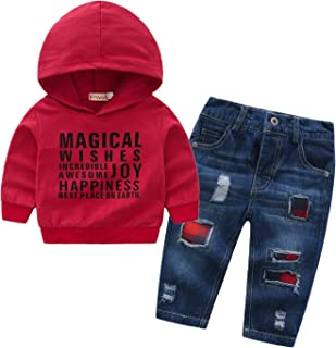 Baby Boy 3pcs Tracksuit Set,Sweatshirt+Hoodie+Pant for Toddler Sweatsuit Outfit