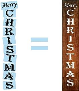 merry christmas vertical stencil
