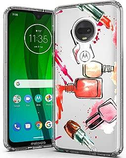 i-Pasn Moto G7 Case,Moto G7 Plus Case, Slim Shockproof Clear Pattern Fashion Colourful Design Anti-Fingerprint Scratch-Resistant Protective Cover Case for Moto G 7th Generation,Perfume
