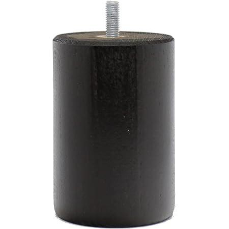 La Fabbrica di Piedi am20170081Gioco di 4Piedi di Letto cilindri Legno Ombra wengé 10x 7x 7cm