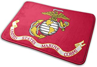 Flag The United States Marine Corps Doormat Indoor Home Kitchen Bathroom Outdoor Non-Slip (23.6