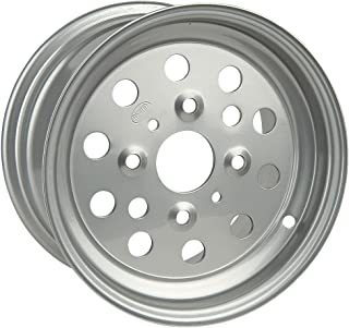 ITP Steel Wheel - 11x7 - 2+5 Offset - 4/110 - Silver , Bolt Pattern: 4/110, Rim Offset: 2+5, Wheel Rim Size: 11x7, Color: Silver, Position: Rear 11741R