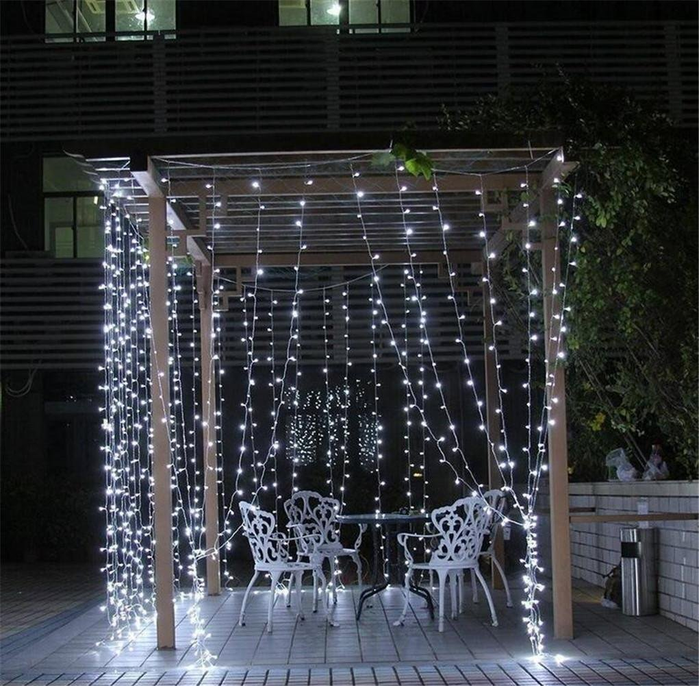 W-ONLY YOU-J Luces de cortina LED cadena luces de hadas 8 modos de ...