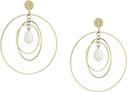 Multi Hoop Pearl Earrings