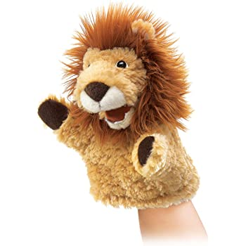 Folkmanis African Lion Cub Hand Puppet Plush Folkmanis Puppets 3064