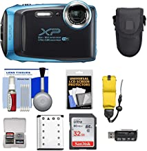 $149 Get Fujifilm FinePix XP130 Shock & Waterproof Wi-Fi Digital Camera (Sky Blue) with 32GB Card + Battery + Cases + Float Strap + Ultimate Deals Cloth+ Accessory Kit