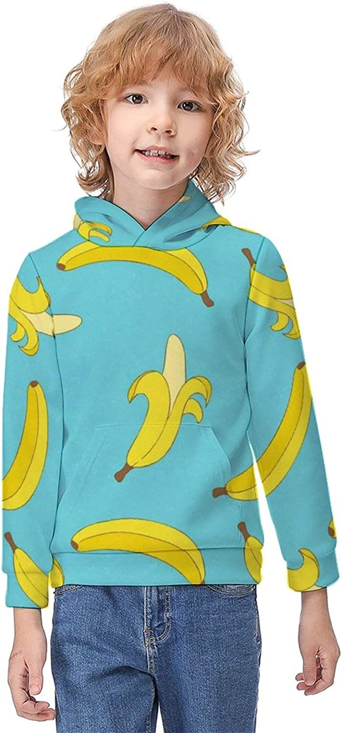 Children's Clothes Sweatshirts Boys' Hoodies Printed Basic Hoodie Tops with Kangaroo Pocket for Outdoor Leisure Time