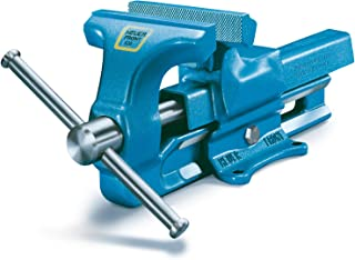 Heck Industries VH100140 Heuer 140 mm Forged Iron Bench Vise, Forged Steel, Blue
